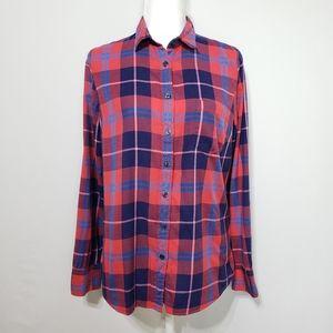 J Crew Perfect fit Plaid Button down Shirt